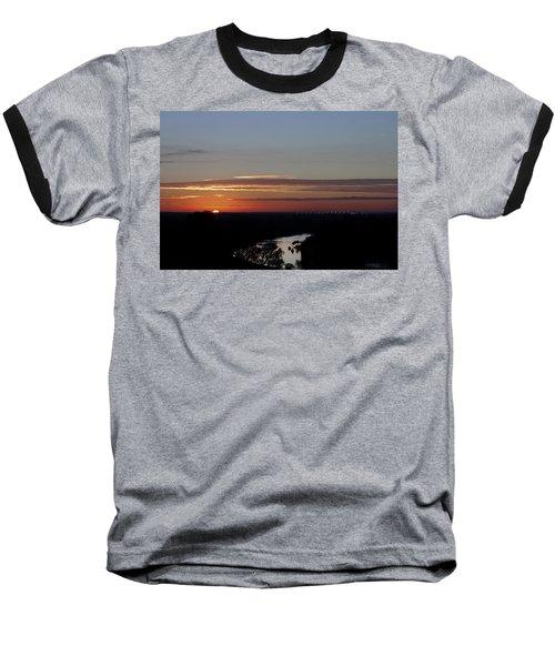 Baseball T-Shirt featuring the photograph Vanishing Sunset by Maj Seda