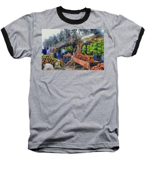 Vegetable Sellers Baseball T-Shirt