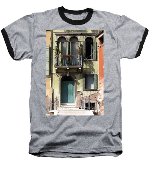 Venetian Doorway Baseball T-Shirt by Carla Parris