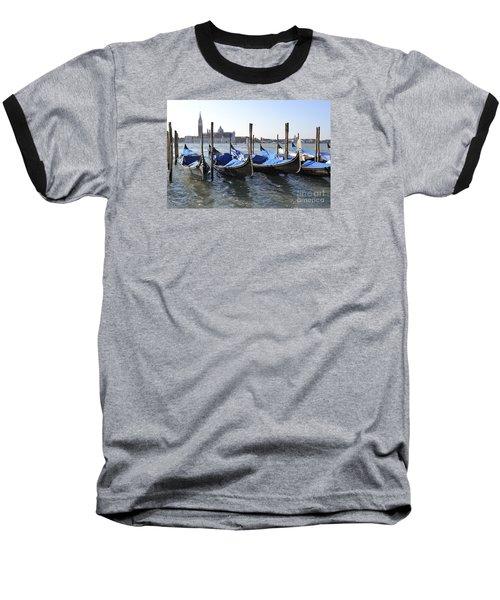 Baseball T-Shirt featuring the photograph Venice Gondolas by Rebecca Margraf
