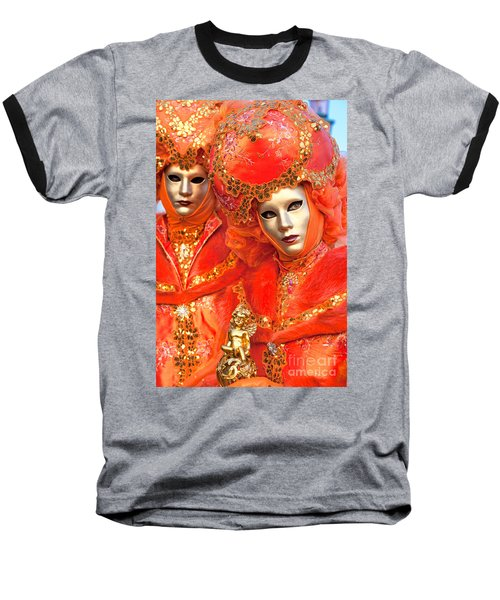 Baseball T-Shirt featuring the photograph Venice Masks by Luciano Mortula