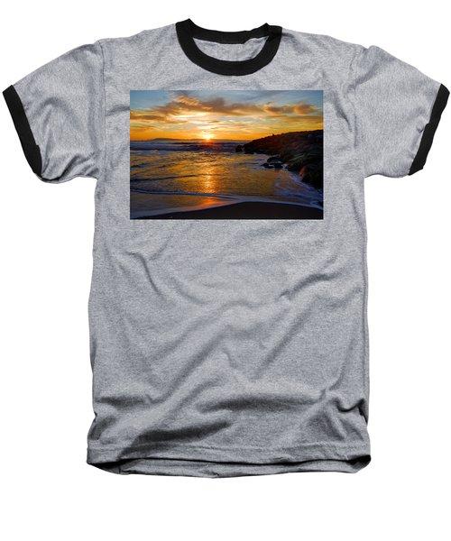 Ventura Beach Sunset Baseball T-Shirt by Lynn Bauer