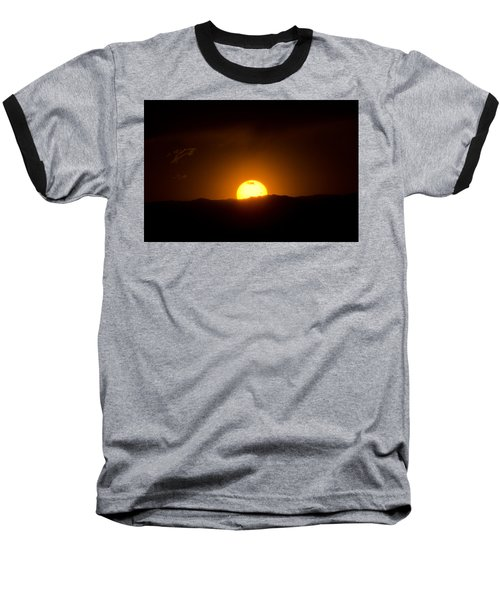 Venus Transit Setting Over The Rocky Mountains Baseball T-Shirt