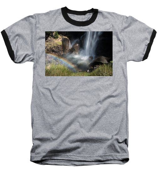 Vernal Falls Rainbow On Mist Trail Yosemite Np Baseball T-Shirt