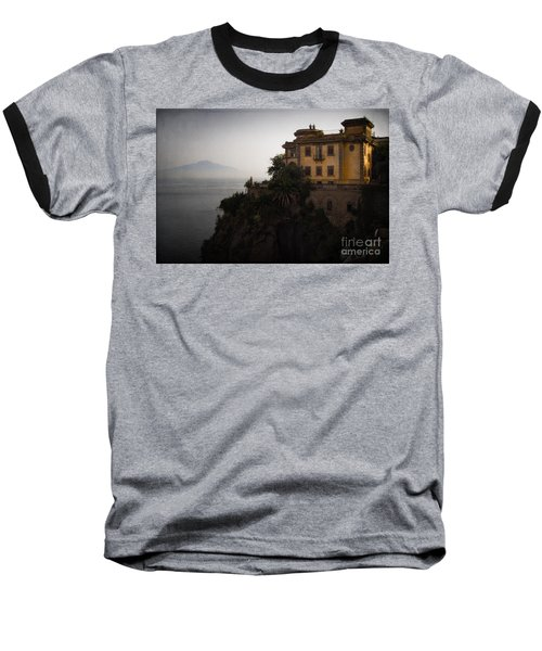 Vesuvius From Sorrento Baseball T-Shirt