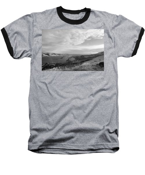 Baseball T-Shirt featuring the photograph View From The Hill Columbia River by Kathleen Grace