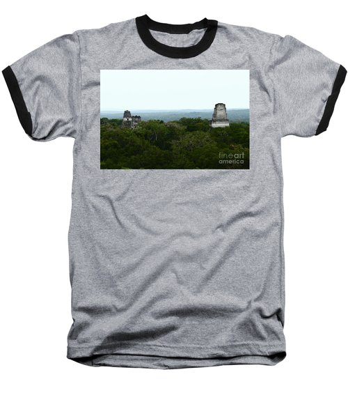 View From The Top Of The World Baseball T-Shirt by Kathy McClure