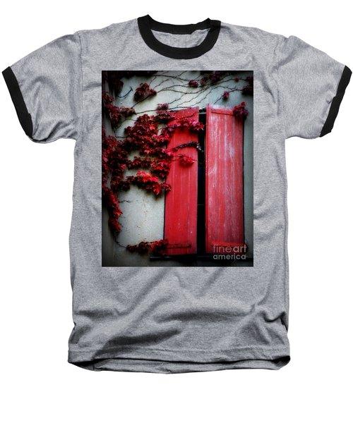 Vines On Red Shutters Baseball T-Shirt