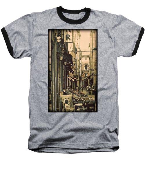 Vintage Bologna Italy Baseball T-Shirt