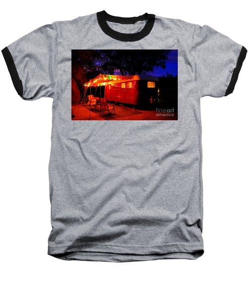Vintage Vagabond Trailer Baseball T-Shirt
