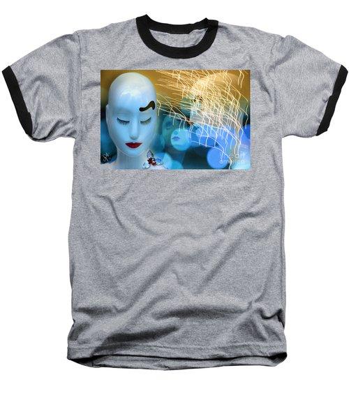 Virginal Shyness Baseball T-Shirt by Rosa Cobos