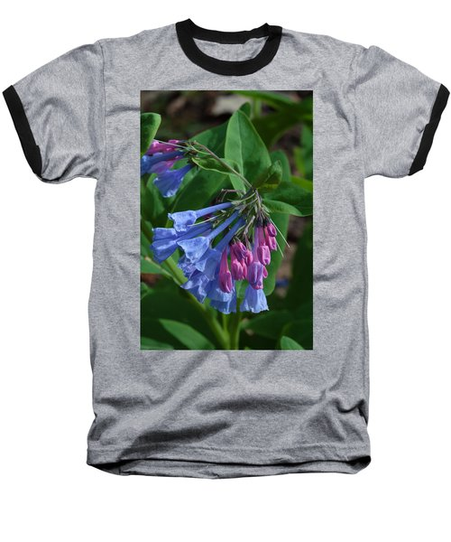 Baseball T-Shirt featuring the photograph Virginia Bluebells by Daniel Reed