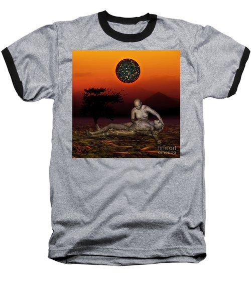 Volcanos Pieta Baseball T-Shirt by Rosa Cobos
