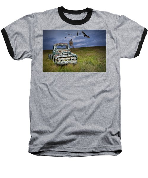 Vultures And The Abandoned Truck Baseball T-Shirt