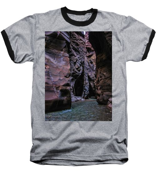 Wadi Mujib Jordan Baseball T-Shirt by David Gleeson