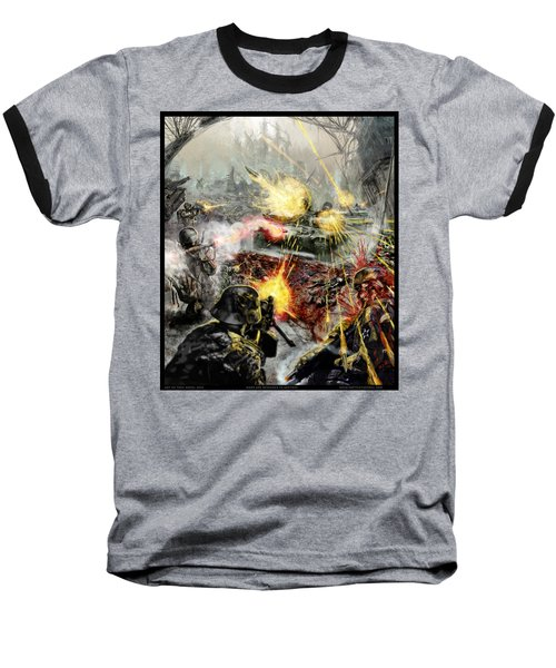 Wars Are Designed To Destroy  Baseball T-Shirt by Tony Koehl