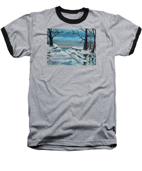 Baseball T-Shirt featuring the painting Washoe Winter by Dan Whittemore