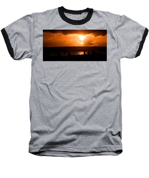 Watching Sunset Baseball T-Shirt by Yew Kwang