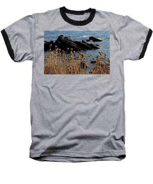 Baseball T-Shirt featuring the photograph Watching The Sea 1 by Pedro Cardona