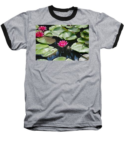Baseball T-Shirt featuring the photograph Water Lilies by Jennifer Ancker