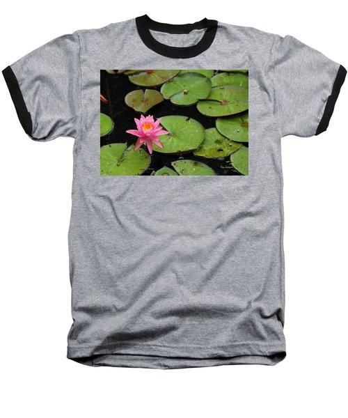Water Lily Baseball T-Shirt by Kay Lovingood