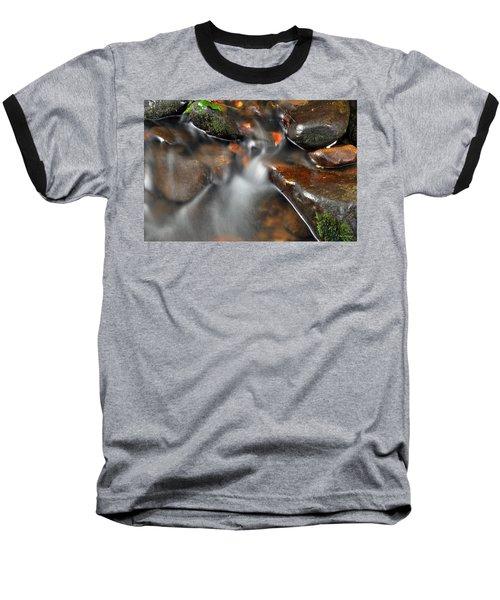 Water Over Rocks Baseball T-Shirt by Kay Lovingood