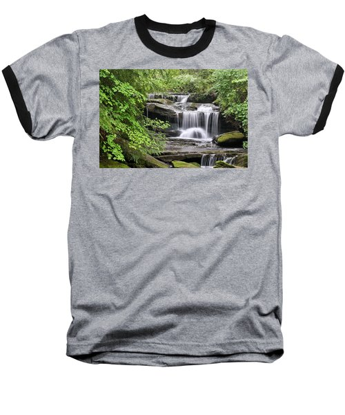 Waterfall Near Mabbitt Spring Baseball T-Shirt