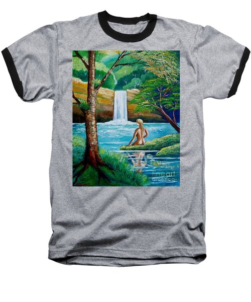 Waterfall Nymph Baseball T-Shirt