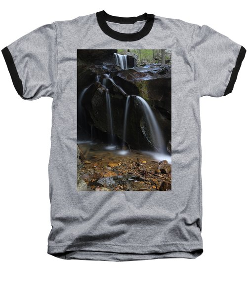 Baseball T-Shirt featuring the photograph Waterfall On Emory Gap Branch by Daniel Reed