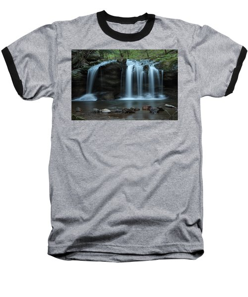Baseball T-Shirt featuring the photograph Waterfall On Flat Fork by Daniel Reed