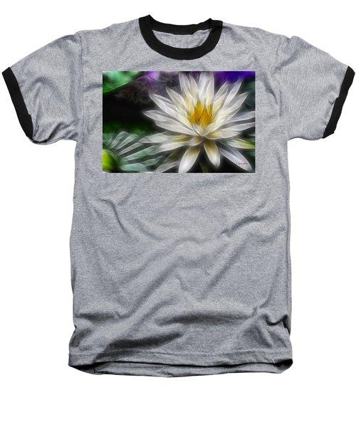 Baseball T-Shirt featuring the digital art Waterlily In Pseudo-fractal by Lynne Jenkins