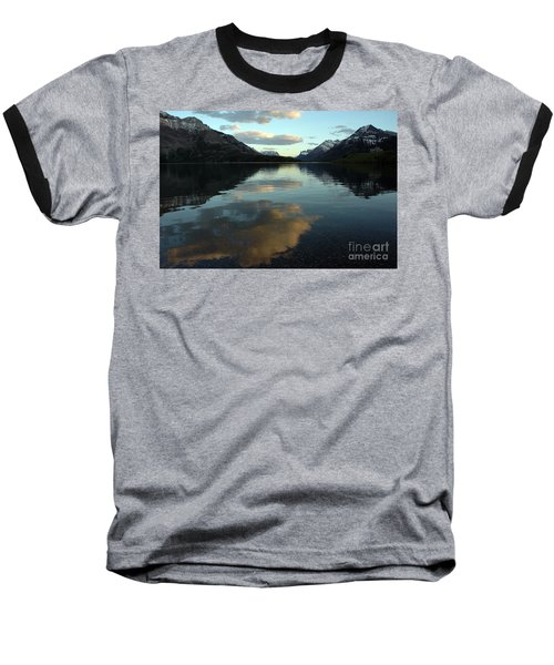 Waterton Lake Sunset Canada Baseball T-Shirt by Vivian Christopher