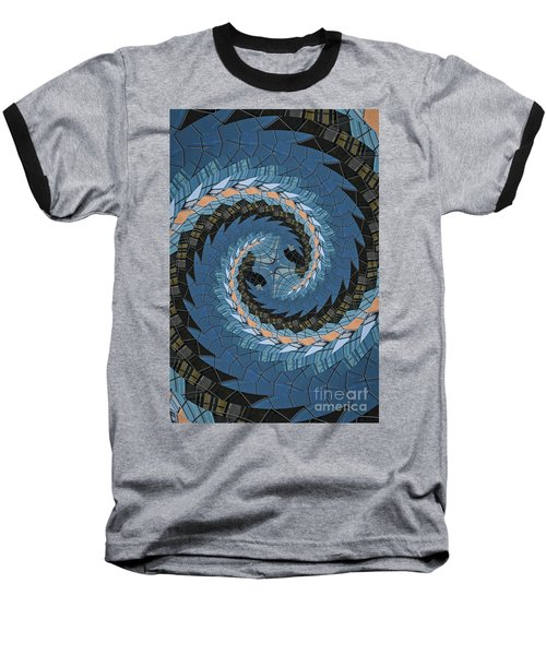 Baseball T-Shirt featuring the photograph Wave Mosaic. by Clare Bambers