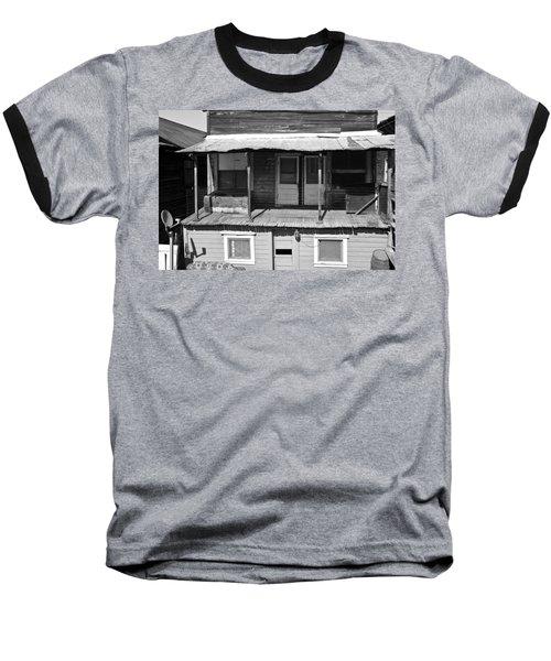 Weathered Home With Satellite Dish Baseball T-Shirt