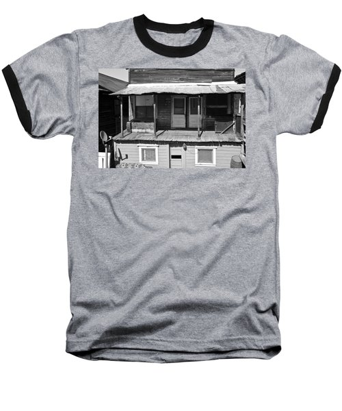 Weathered Home With Satellite Dish Baseball T-Shirt