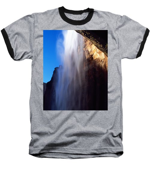 Weeping Rock Waterfall Baseball T-Shirt