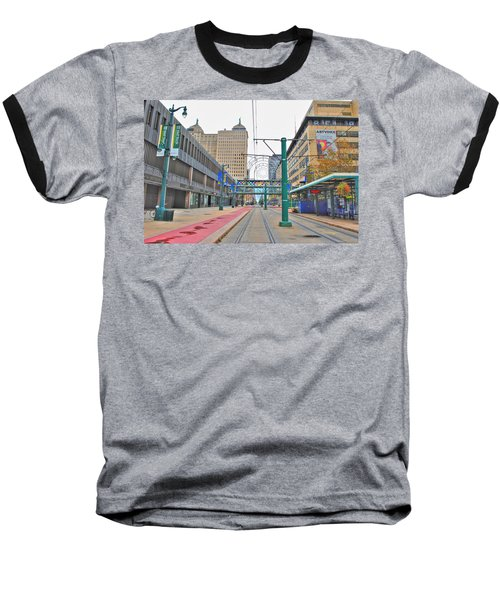 Baseball T-Shirt featuring the photograph Welcome To Dt Buffalo by Michael Frank Jr