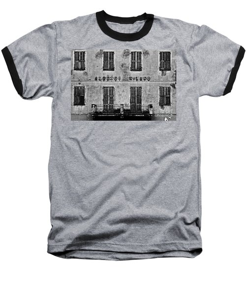 Baseball T-Shirt featuring the photograph Welcome To The Hotel Milano by Andy Prendy