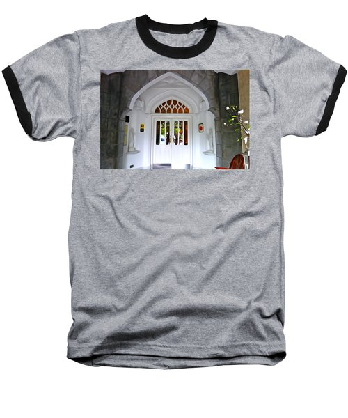 Baseball T-Shirt featuring the photograph Welcome To The Manor by Charlie and Norma Brock