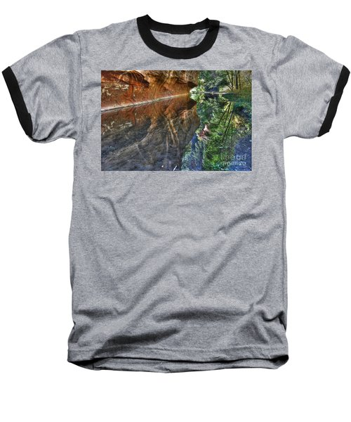 Baseball T-Shirt featuring the photograph West Fork Reflection by Tam Ryan
