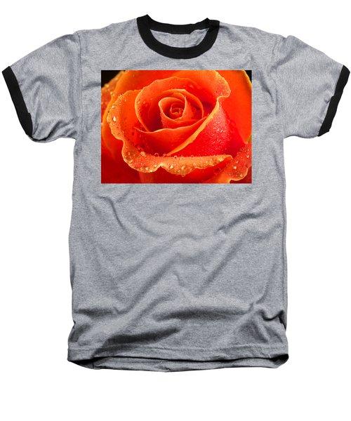 Wet Rose Baseball T-Shirt