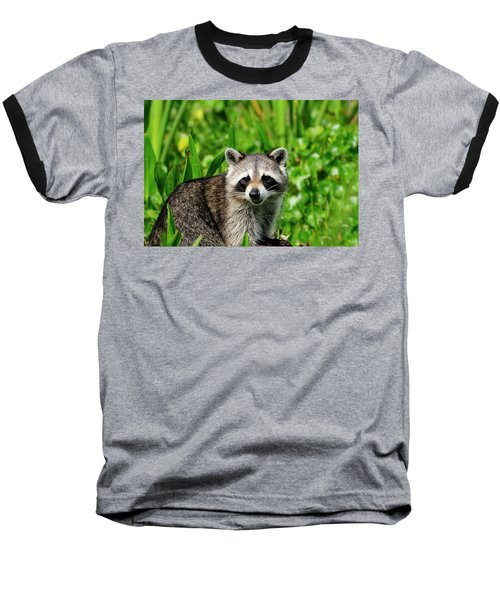 Wetlands Racoon Bandit Baseball T-Shirt