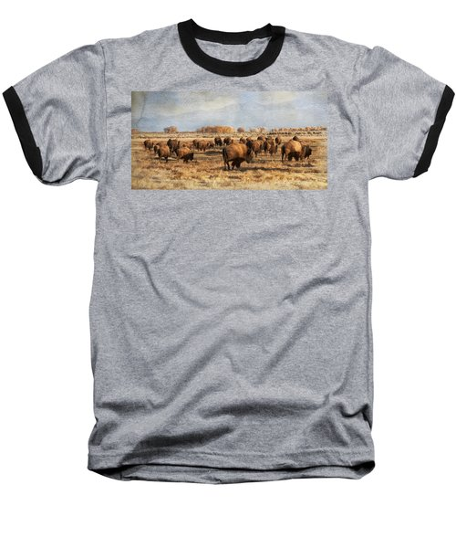 Where The Buffalo Roam Baseball T-Shirt