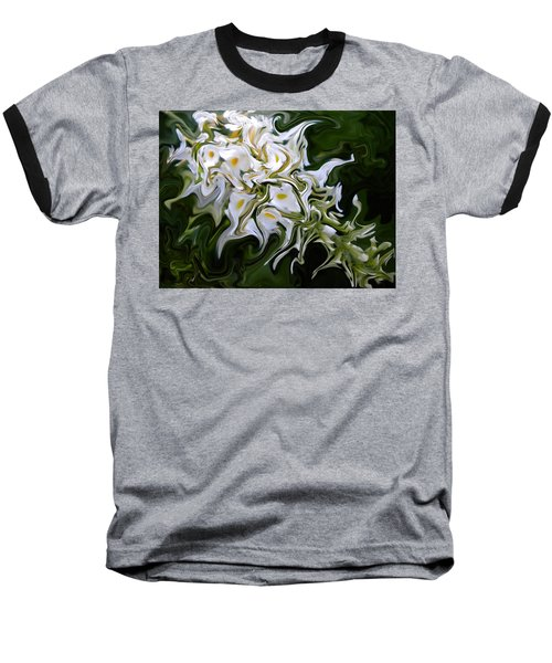 White Flowers 2 Baseball T-Shirt