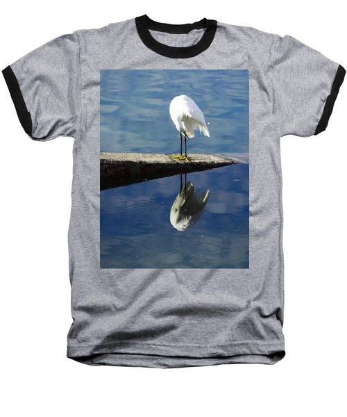 Baseball T-Shirt featuring the digital art White Heron by Anne Mott