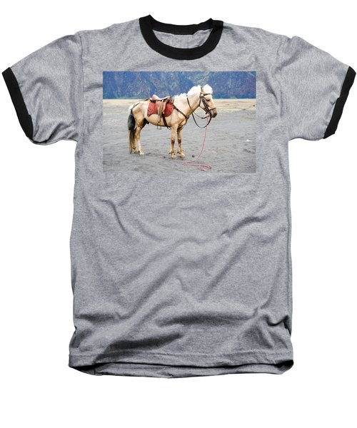 Baseball T-Shirt featuring the photograph White Horse by Yew Kwang