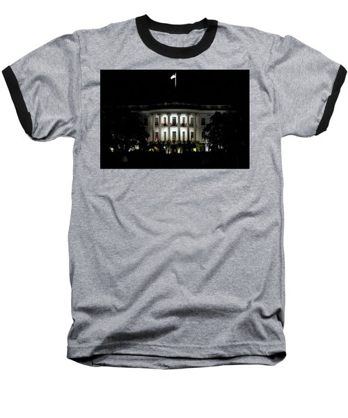 Baseball T-Shirt featuring the photograph White House In December by Suzanne Stout