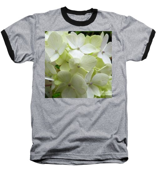 Baseball T-Shirt featuring the photograph White Hydrangea by Barbara Moignard
