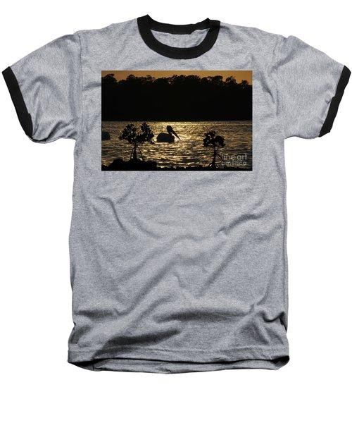 Baseball T-Shirt featuring the photograph White Pelican Evening by Dan Friend