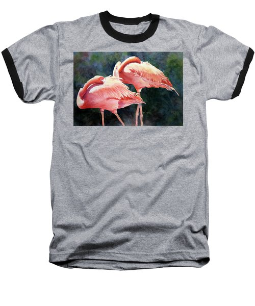 Who's Peek'n - Flamingos Baseball T-Shirt
